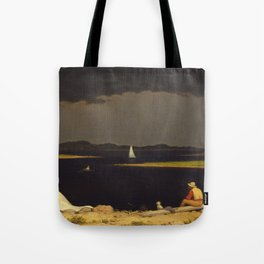 Approaching Thunder Storm Painting By Martin Johnson Heade Tote Bag