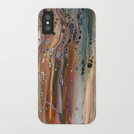 Fluid Acrylic IX - Abstract, original, acrylic pour painting iPhone Case