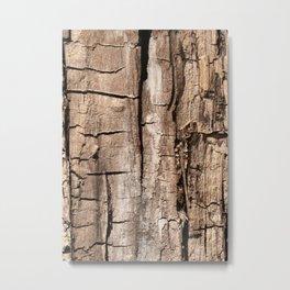 Old wood texture Metal Print