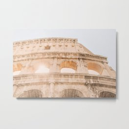 117B. Coliseum and Light, Rome, Italy Metal Print