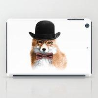 gentleman iPad Cases featuring Gentleman by JM Illustration