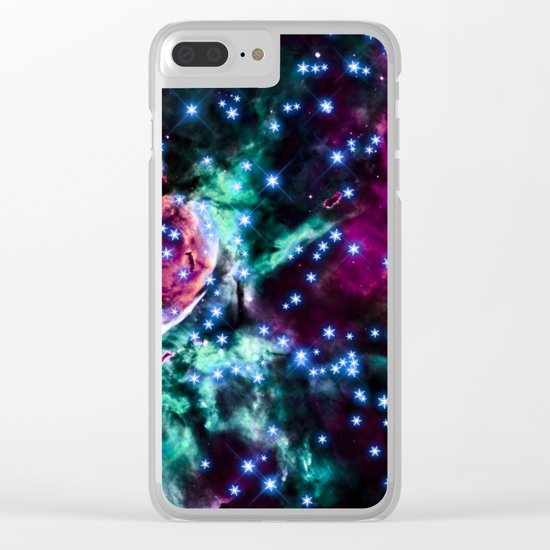 space stars. Clear iPhone Case