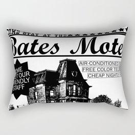 Bates Motel Advertisement - Black Type Rectangular Pillow