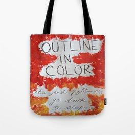Outline In Color (orange) Tote Bag