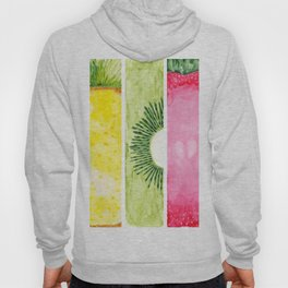 Summer Fruits Watercolor Abstraction Hoody