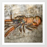 lobster Art Prints featuring Lobster by Buster Fidez