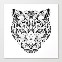 Leopard - Drawing Canvas Print