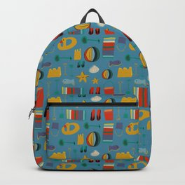 beach gear blue Backpack