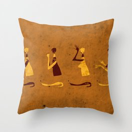 Forms of Prayer - Yellow Throw Pillow