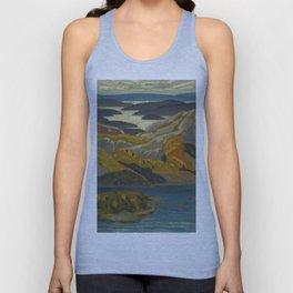 Canadian Landscape Oil Painting Franklin Carmichael Art Nouveau Post-Impressionism Grace Lake 1931 Unisex Tank Top