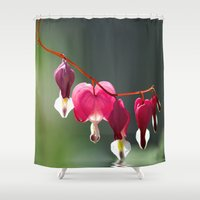 bath Shower Curtains featuring Lady in a bath by UtArt