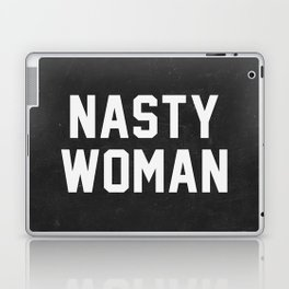 Nasty Woman - black version Laptop & iPad Skin