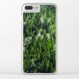 Forest pattern Clear iPhone Case