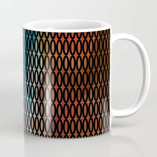 Abstract background of triangles polygon print. Bright dark design colors Coffee Mug