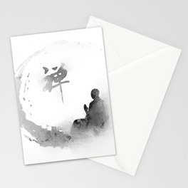 buddha and moon Stationery Cards