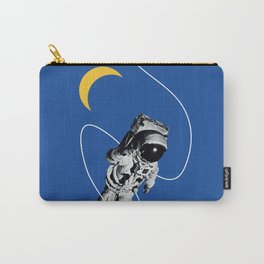 Astronaut Floating in Blue Space Carry-All Pouch