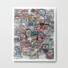 Gathered in April, Paper Collage Metal Print