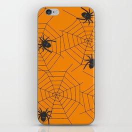 Halloween Spider Illustration iPhone Skin