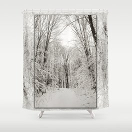 Snow Trail Shower Curtain