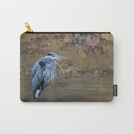 Great Blue Heron on a Rock Carry-All Pouch