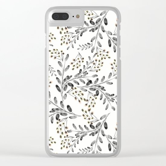 Delicate floral pattern. 1 Clear iPhone Case