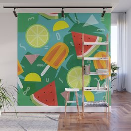 Watermelon, Lemon and Ice Lolly Wall Mural