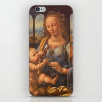 da vinci iPhone & iPod Skins featuring Leonardo da Vinci by Palazzo Art Gallery