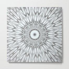 Gray Kaleidoscope Metal Print