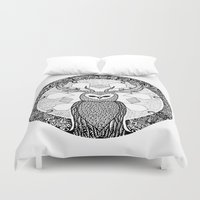 pentagram Duvet Covers featuring The Watcher by Eurimos