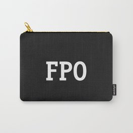 For Placement Only - FPO - Artwork (Squarespace Black) Carry-All Pouch