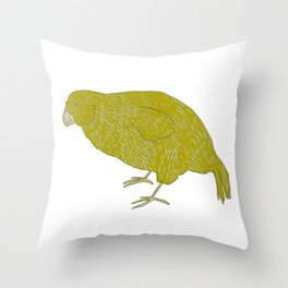 Kakapo Says Hello! Throw Pillow