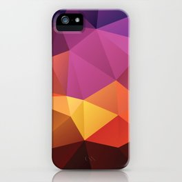 Abstract geometric triangle background iPhone Case