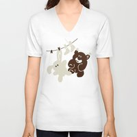kindle V-neck T-shirts featuring The Day We Met by Efon Vee