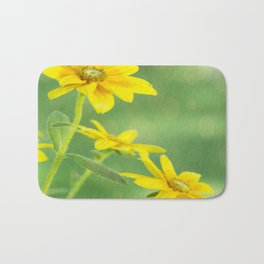 Summer Time With Yellow Daises Bath Mat