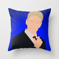 how i met your mother Throw Pillows featuring Barney Stinson - How I Met Your Mother by Tom Storrer