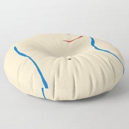 Line in nude Floor Pillow