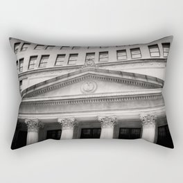 Federal Reserve Bank of Chicago Black and White Rectangular Pillow