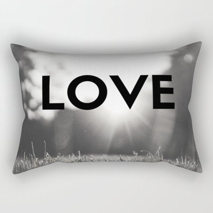 LOVE Sunshine Scenery (Valentine's Day Gifts / Black & White Valentine Day Gift) Rectangular Pillow