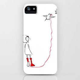 ms slow and her socks #2 iPhone Case