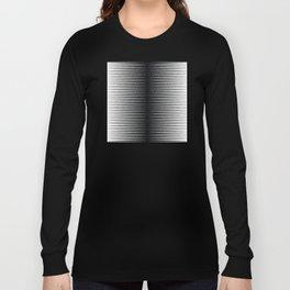 op art - horizontal triangles Long Sleeve T-shirt