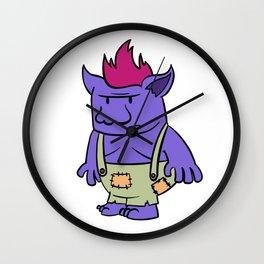 Purple Troll Wall Clock