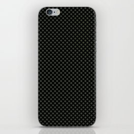 Black and Duffel Bag Polka Dots iPhone Skin