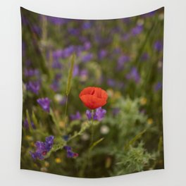 Red poppy's tale Wall Tapestry