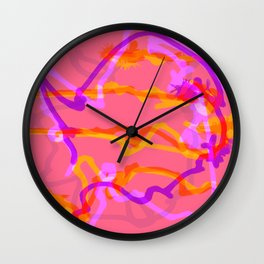 Fluffy lines twisting and turning no. 9 Wall Clock