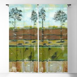 Relic, Abstract Landscape Painting Blackout Curtain