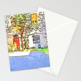 Fognano: courtyard with palm tree Stationery Cards