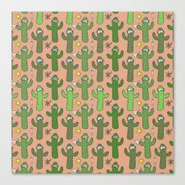 Chemistry Cacti Canvas Print