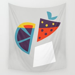 Strawberry Cocktail Wall Tapestry