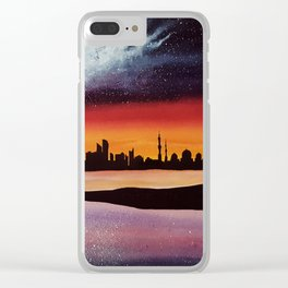 Abu Dhabi, watercolor Clear iPhone Case