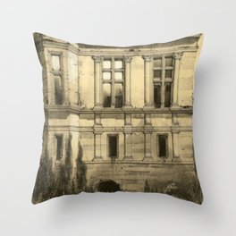 Chateau Ruins Throw Pillow